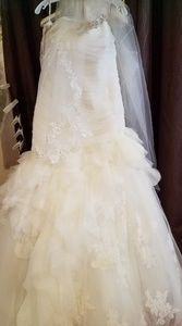Ivory Wedding Gown with train